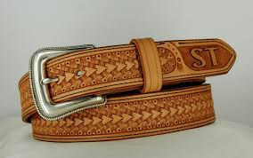 personalized custom leather belt custom western belt hand tooled leather leather belt