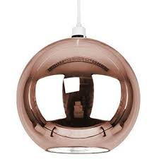 modern copper brown glass ball ceiling pendant light shade within rose gold idea 15