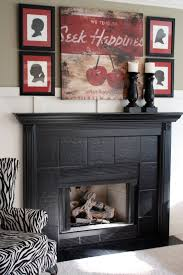 attractive living room decoration with tile fireplace surrounds endearing living room decoration using black tile