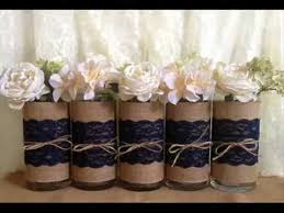 Decorating With Mason Jars And Burlap Rustic wedding mason jar vases candles burlap and lace 11