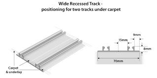 installing sliding doors onto carpets