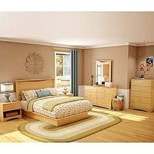 Amazon.com: South Shore Copley Wood Panel Headboard 4 Piece Bedroom ...