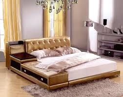 queen size leather bed post modern real genuine leather bed soft bed double bed king queen queen size leather bed