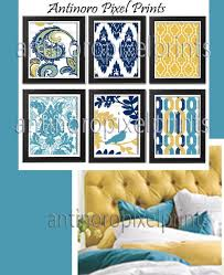 ikat paisley turquoise golden yellow damask digital wall art print set includes 8 x 10 prints unframed custom colors sizes available 120642229 on paisley print wall art with ikat paisley turquoise golden yellow damask digital wall art print