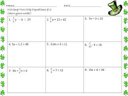 algebra 1 worksheets equations worksheets two step equation worksheets