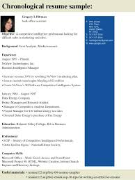 Back Office Resume Sample 3 L Back Office Front Office Executive