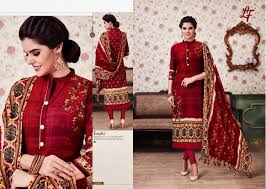 Winter Suits Design For Ladies Lf Winter Collection Vol 25 By Lavli Fashion 25001 To 25008