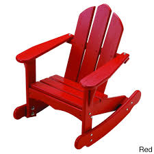 Little Colorado Childs Adirondack Rocking Chair Free Shipping