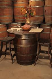 wood barrel furniture. Wine Barrel Pub Table And Stools - PERFECT For In The Kitchen LOVE Love Wood Furniture A