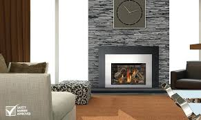 wood and gas fireplace insert image xir gas insert wood burning fireplace insert with gas