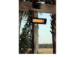 fire sense black steel wall mounted infrared patio heater w glass front fir hea 60255 by
