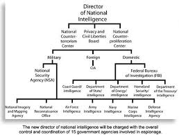 Director Of National Intelligence Organization Chart U S Intelligence Organizational Chart Federal Bureau
