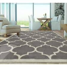 contemporary moroccan trellis gray 8 ft x 10 ft area rug