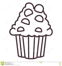 Silhouette Design Shop Isolated Muffin Silhouette Design Stock Illustration