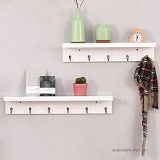 floating shelves coat rack wall mounted