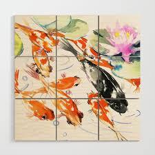 nine koi fish 9 koi feng shui artwork