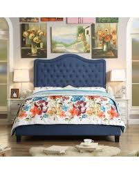 turin upholstered panel bed. Wonderful Bed Darby Home Co Turin Upholstered Panel Bed DRBC9418 Color Classic Navy  Size Twin Upholstery And V