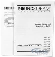 soundstream rub rubicon series w channel amplifier product soundstream rub4 600