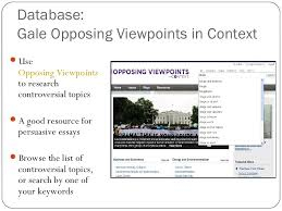 information literacy orientation fall   19 database gale opposing viewpoints