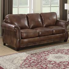 leather settee genuine leather couches for wayfair white sofa