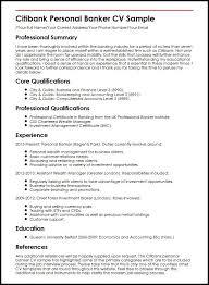 Resume Samples For Banking Professionals Custom Personal Banker Sample Resume Samancinetonicco
