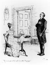 austen drawing scene from pride and prejudice by jane austen by hugh thomson