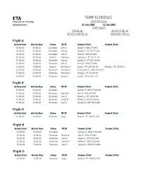 7 Team League Schedule Template Free Templates Sports Rotation