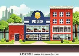 police station building clipart. Modren Police A Vector Illustration Of Police Station To Building Clipart R