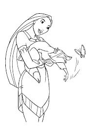 pocahontas coloring page princess