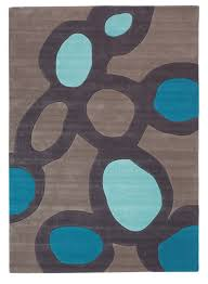 furnituredeluxe grey microfiber contemporary area rugs with blue