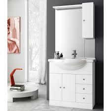 32 inch glossy white bathroom vanity set