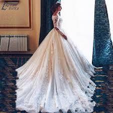 SHJ313 <b>Vestidos De Novia</b> Long Sleeves Lace Wedding Dresses ...
