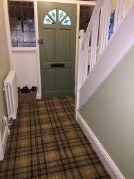 carpet world. tartan carpet.. my new hall stairs and landing. carpet world