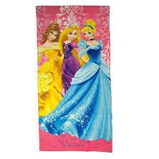 towel for kids. (Disney) USA Products Disney Beach Towels Bath Towel Capdase Princess Damask For Kids