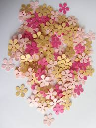 Paper Flower Punches Paper Flowers 200 Small Paper Flowers Small Die Cuts Paper Etsy