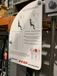 Hoist Dual Series Hd2300 Lat Pulldown Mid Row Selectorized Weight Machine