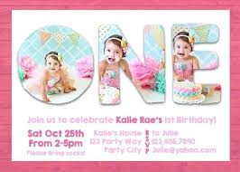 1st Birthday Invitation Template Salabs Pro