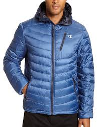 Champion Ch2023ppb Mens Big Packable Performance Jacket With Reactive Fill