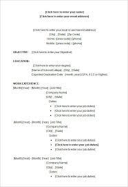 Resume Example Microsoft Word Resume Template Download Resume