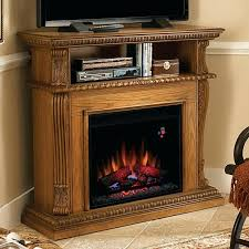 twin star fireplace twin star wall or corner electric fireplace media center in premium oak twin