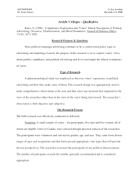 literature review critique sample