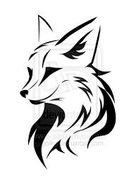 tribal fox drawing. Plain Fox DeviantArt More Like Tribal Running Fox 2 By ShadowKira On Drawing A