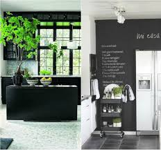 6-black wall in the kitchen