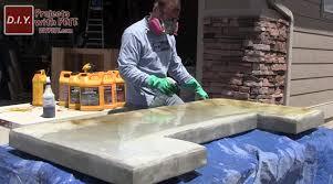 acid staining a patio bar