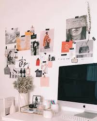 cute collage wall for your office space take aim michelle madsen collage wall in echo