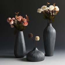 Fashion <b>Classic</b> Black <b>Ceramic Vase</b> Retro <b>Vase</b> Container Simple ...