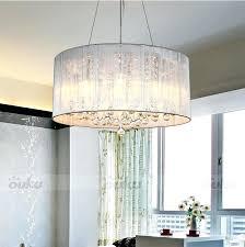drum light chandelier hot shade crystal ceiling pendant fixture lighting lamp black