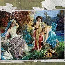 dame pattern art glass mosaic