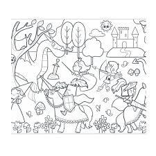 Graffy Roll Kleurplaat Op Rol Prinsessen En Ridders