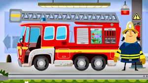 Fire Engine & Firefighters - FIRE TRUCK FOR KIDS: Little Fire Station |  Game Cartoon For Children